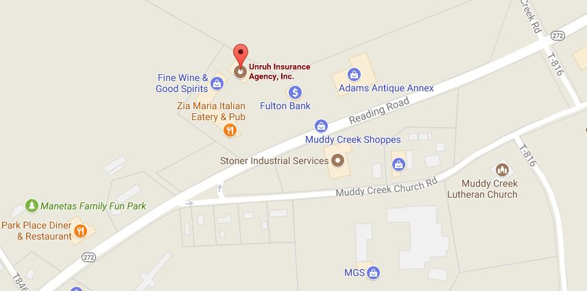Located in the Muddy Brook Shopping Center, Unruh is the Denver PA insurance company for you.