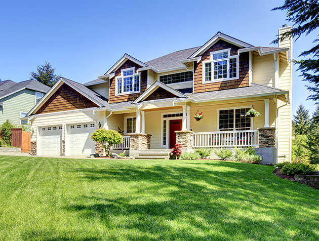 home with homeowners insurance